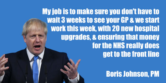 My Job is to Make Sure You Don't Wait 3 Weeks to See Your GP, With 20 New Hospital Upgrades – Boris Johnson, PM