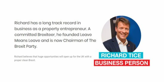 Brexit Party Chairman Richard Tice MEP Candidate