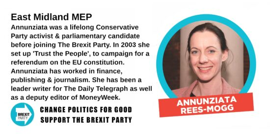 Brexit Party East Midland MEP Annunziata Rees-Mogg