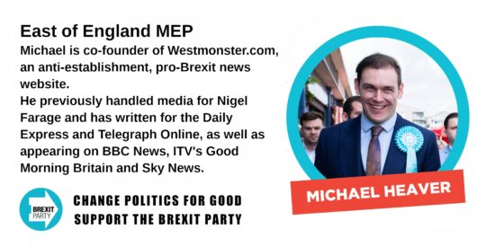 Brexit Party East of England MEP Michael Heaver