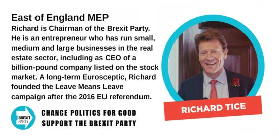 Brexit Party East of England MEP Richard Tice