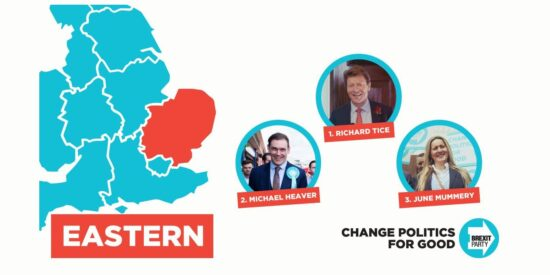 Brexit Party East of England MEPs