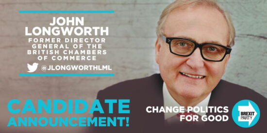 Brexit Party John Longworth MEP Candidate