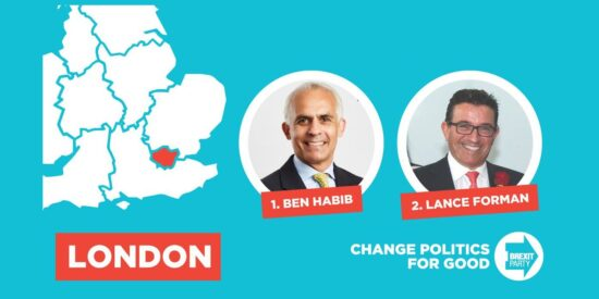 Brexit Party London MEPs