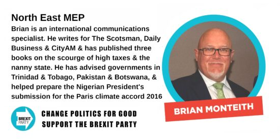 Brexit Party North East MEP Brian Monteith