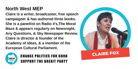 Brexit Party North West MEP Claire Fox