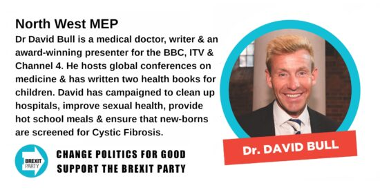 Brexit Party North West MEP Dr David Bull