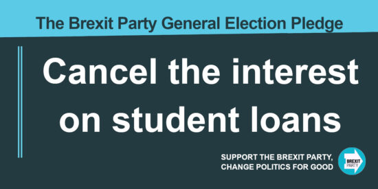 The Brexit Party Pledge Cancel the Interest on Student Loans