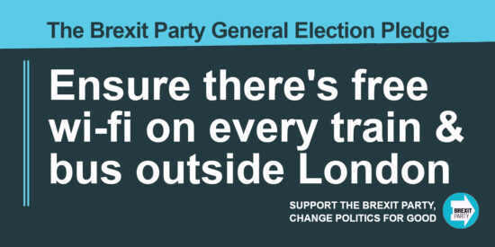 The Brexit Party Pledge Ensure There's Free wi-fi on Every Train and Bus Outside London