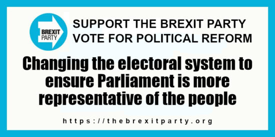 The Brexit Party Political Reform Ensure Parliament is More Representative of the People