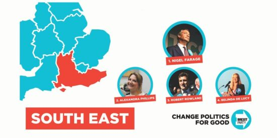 Brexit Party South East England MEPs