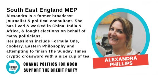 Brexit Party South East MEP Alexandra Phillips