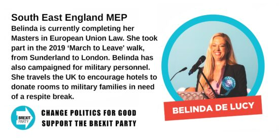 Brexit Party South East MEP Belinda De Lucy