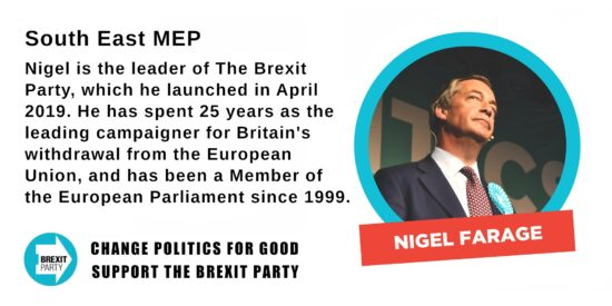 Brexit Party South East MEP Nigel Farage