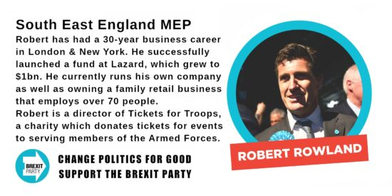 Brexit Party South East MEP Robert Rowland