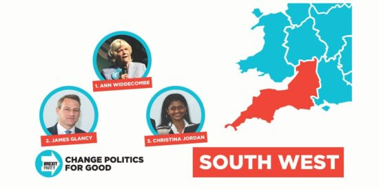 Brexit Party South West England MEPs