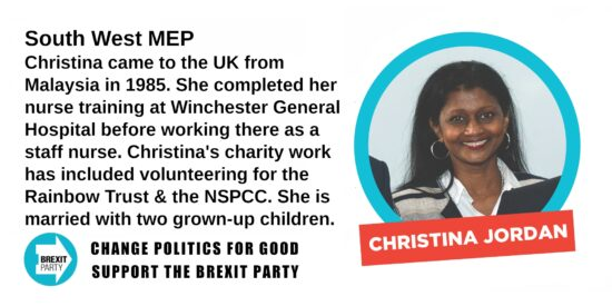 Brexit Party South West MEP Christina Jordan