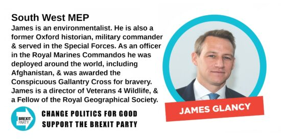 Brexit Party South West MEP James Glancy