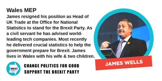 Brexit Party Wales MEP James Wells