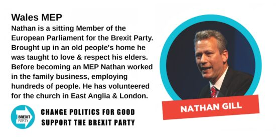 Brexit Party Wales MEP Nathan Gill