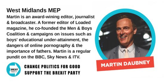 Brexit Party West Midlands MEP Martin Daubney