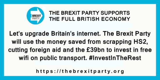 The Brexit Party will Invest in Free Wifi on Public Transport