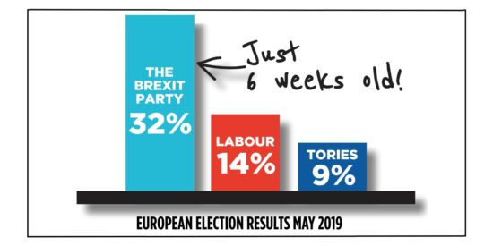The Brexit Party Won the European Elections with more Votes than the Tories and Labour Combined