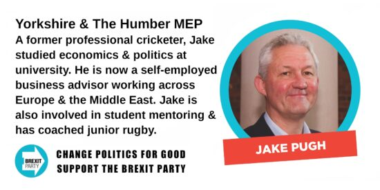 Brexit Party Yorkshire & The Humber MEP Jake Pugh