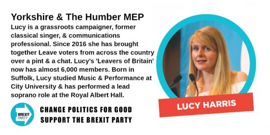 Brexit Party Yorkshire & The Humber MEP Lucy Harris