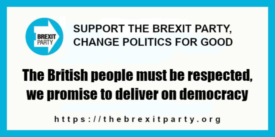 The British People Must be Respected, We Promise to Deliver on Democracy - Brexit Party