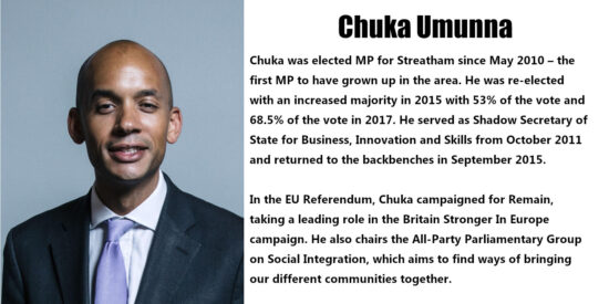 Chuka Umunna Independent MP