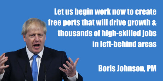 Create Free Ports to Drive Growth and High-Skilled Jobs in Left-Behind Areas - Boris Johnson, PM