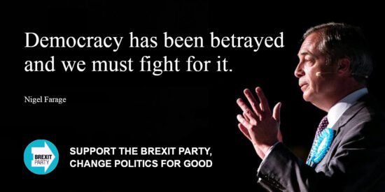 Democracy has Been Betrayed and we Must Fight for it - Nigel Farage