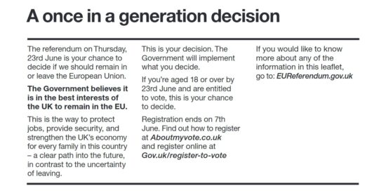 EU Referendum The Government Will Implement what You Decide Pledge