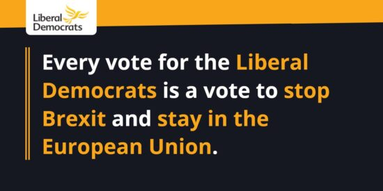 Every Vote for the Liberal Democrats is a Vote to Stop Brexit & stay in the European Union