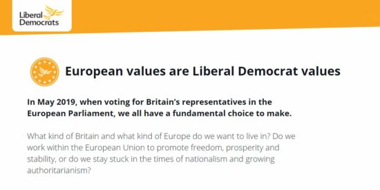 Lib Dem Manifesto: European Values are Liberal Democrat Values