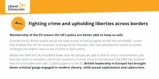 Lib Dem Manifesto: Fighting Crime and Upholding Liberties Across Borders
