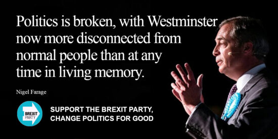 Politics is Broken, with Westminster now more Disconnected from Normal People - Nigel Farage