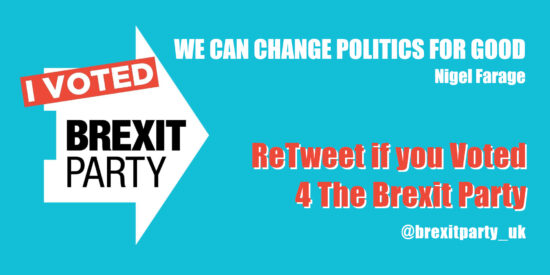ReTweet if you Voted 4 The Brexit Party