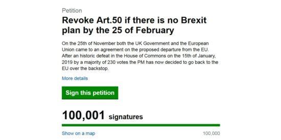 Revoke Article 50 Petition