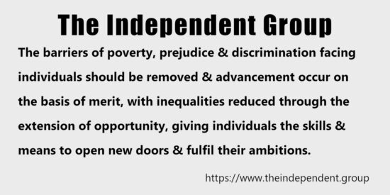 The Barriers of Poverty, Prejudice and Discrimination Should be Removed