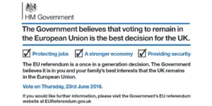 The EU Referendum is a Once in a Generation Decision