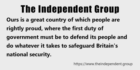 The First Duty of Government Must be to Defend its People