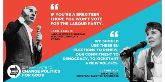 The Labour Party Does NOT Represent Brexiteers, the Brexit Party Does