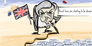 Theresa May's 3 Brexit Red Lines Joke