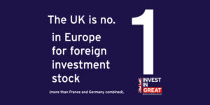 The UK is No.1 in Europe for Foreign Investment Stock