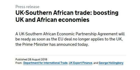 UK Southern African Trade Boosting UK and African Economies