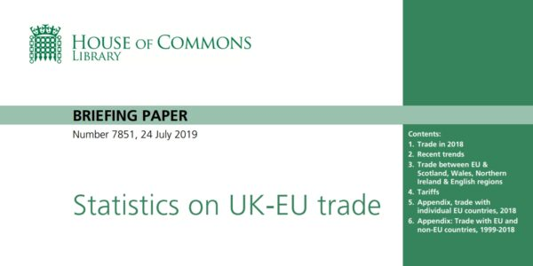 UK Trade with the EU Statistics 2018