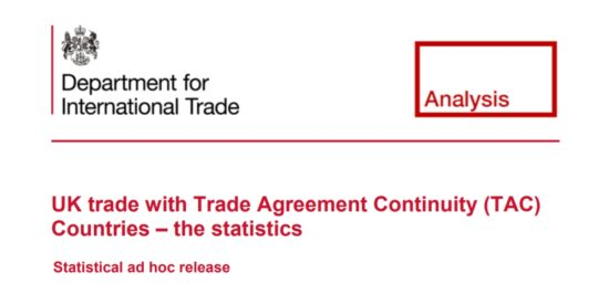 UK Trade with Trade Agreement Continuity (TAC) Countries