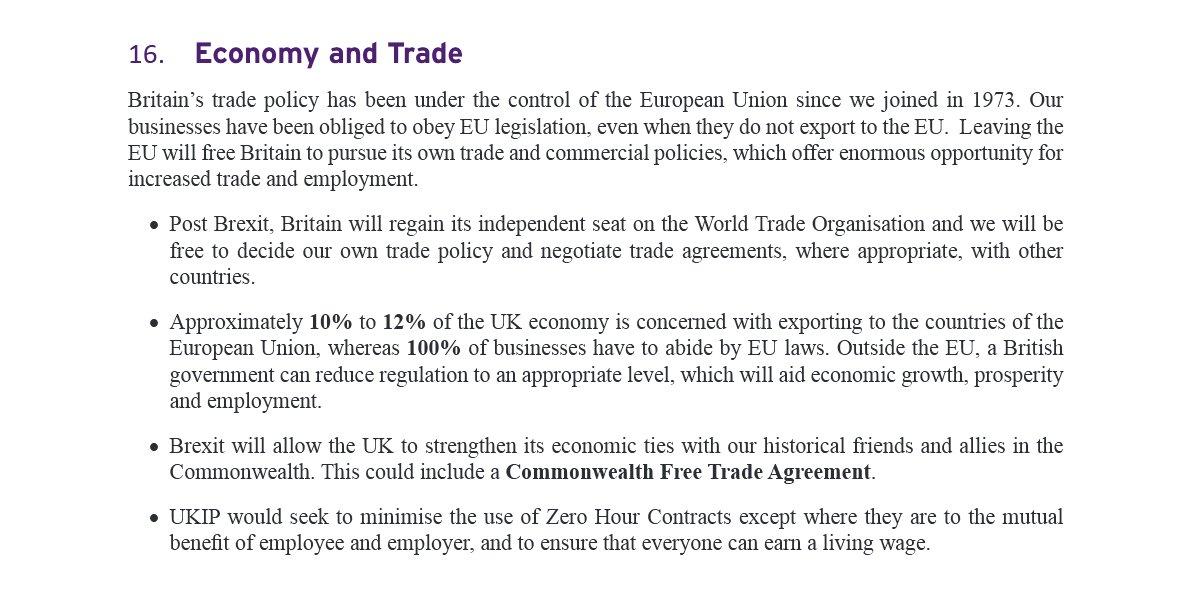 Ukip Manifesto Economy And Trade